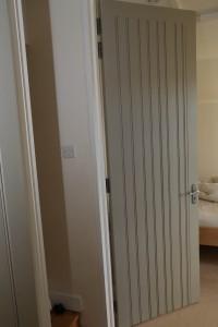 Double side panel door