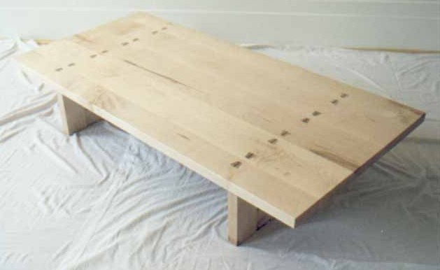 Low table in English Oak